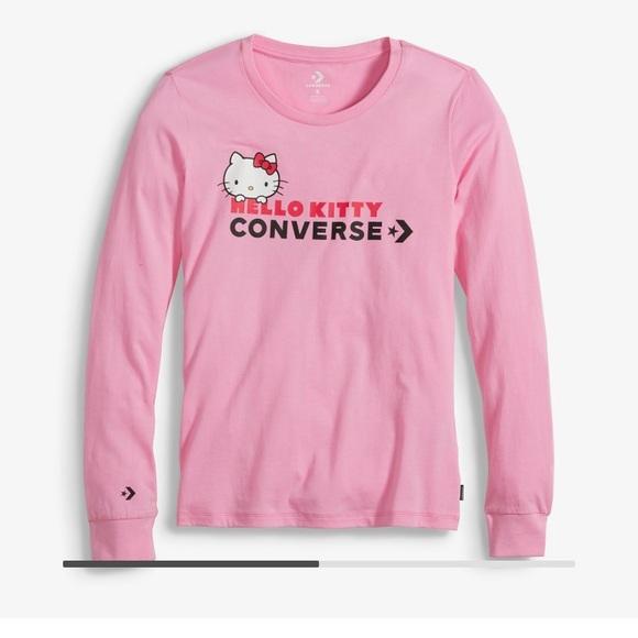 66a5506d0ece Converse x Hello Kitty Long Sleeve T-Shirt